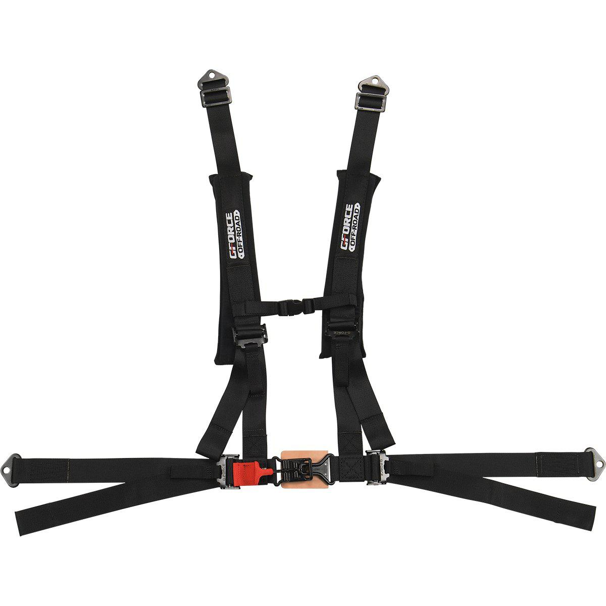 UTV 4-POINT 2 INCH LATCH & LINK OFF-ROAD HARNESS BLACK-Harness-G-Force-Black Market UTV