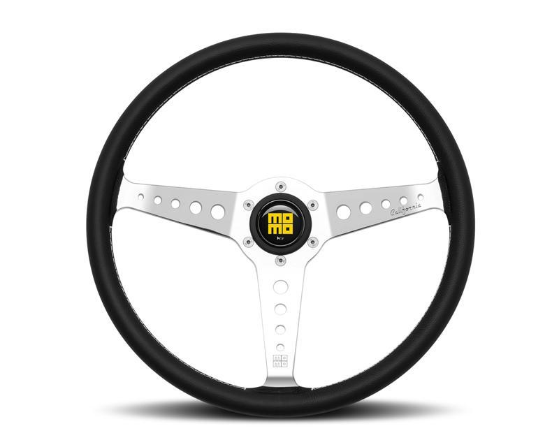 MOMO Heritage California Black Leather 360mm Steering Wheel-Steering Wheel-MOMO-Black Market UTV