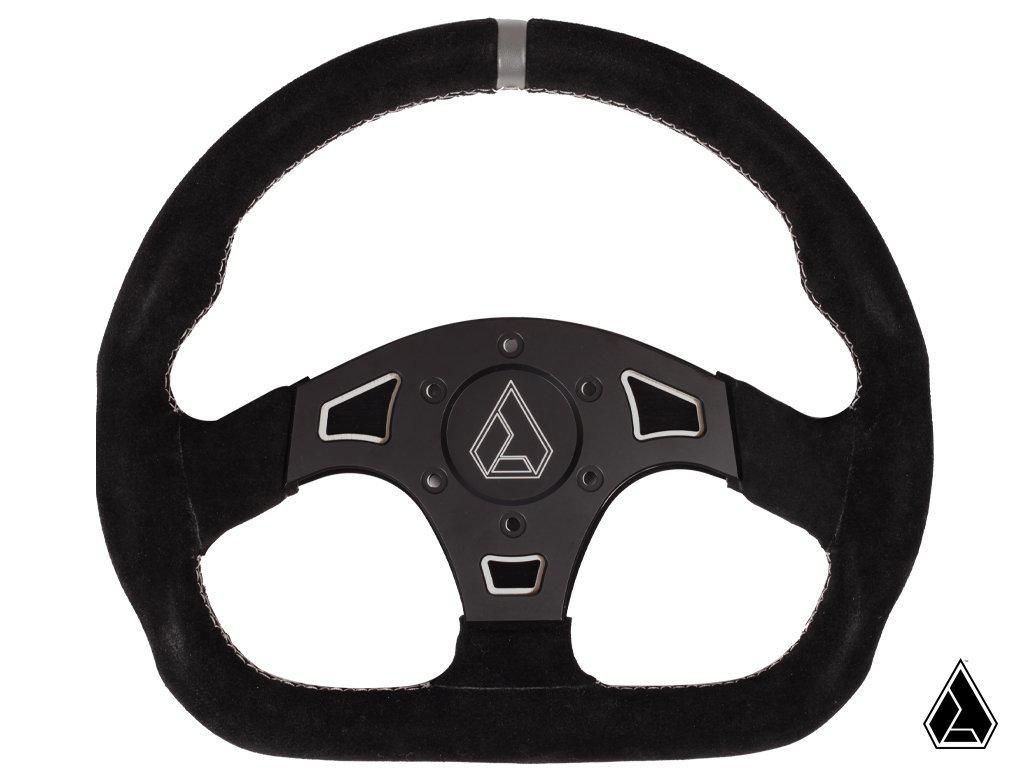 "Assault Industries Suede Ballistic ""D"" Steering Wheel-Steering Wheel-Assault Industries-Raw-Black Market UTV"