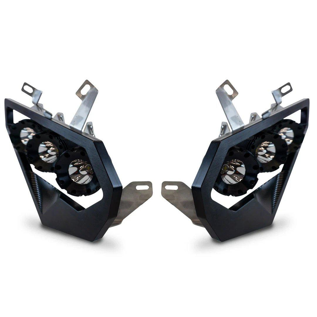 Heretic Studio CanAm Maverick X3 Headlights-Headlight Kit-Heretic Studio-Black Market UTV