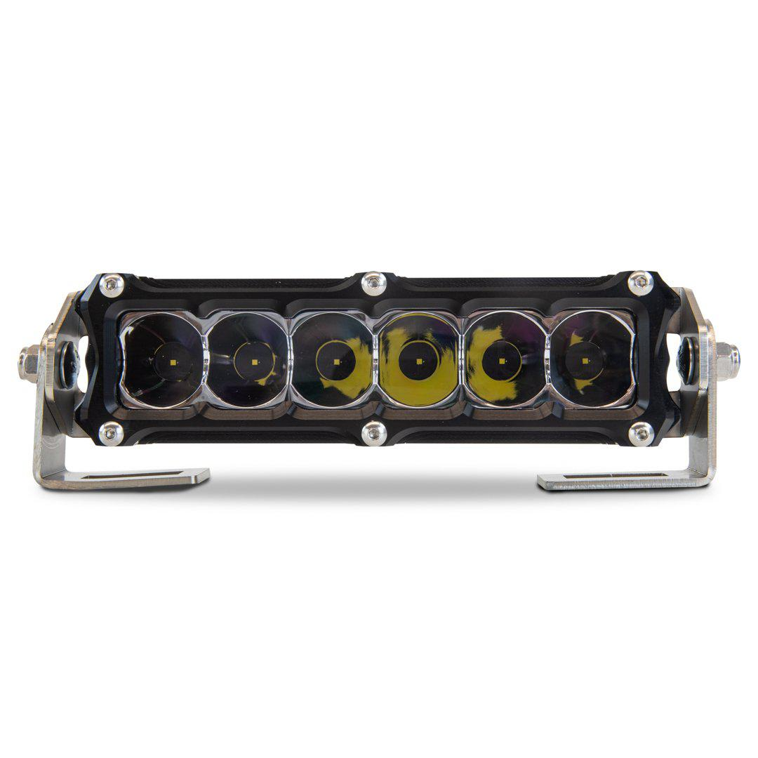 "Heretic 6 Series - 6"" Light Bar-Lighting Pods-Heretic Studio-Combo-No Thanks-Clear-Black Market UTV"