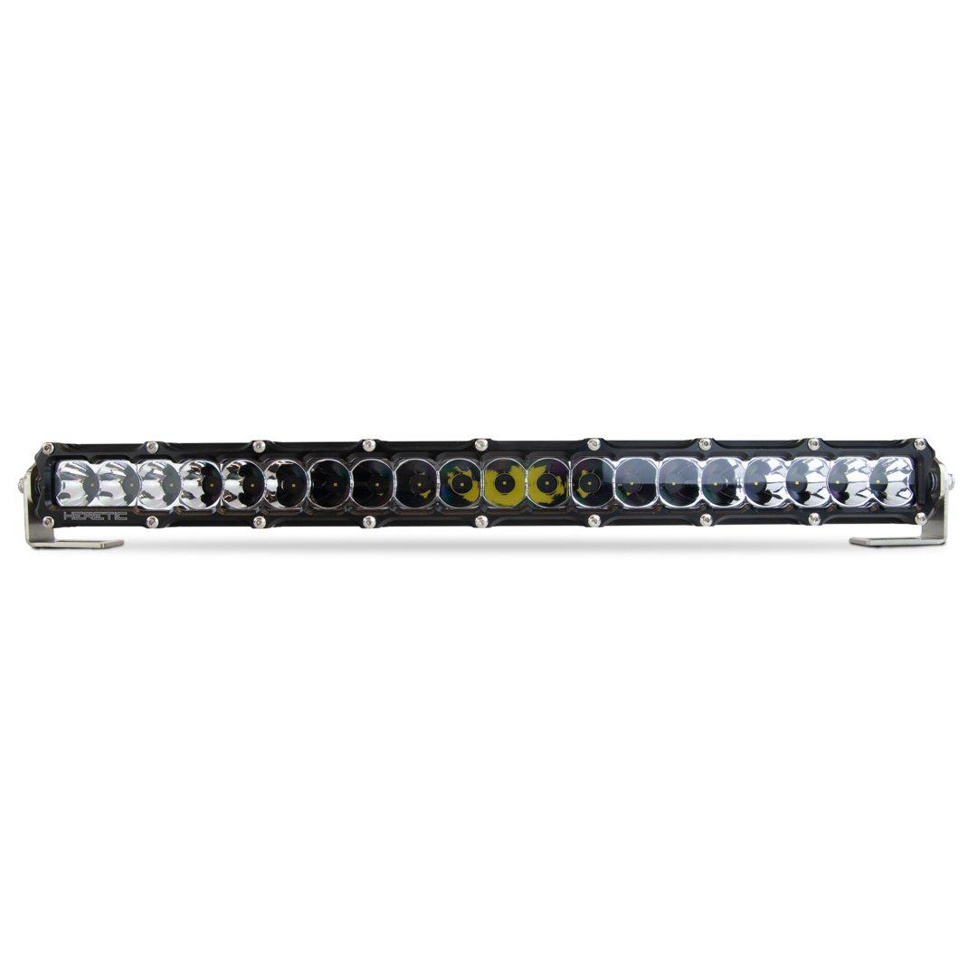"Heretic 6 Series - 20"" Light Bar-Light Bar-Heretic Studio-Spot-No Thanks-Clear-Black Market UTV"