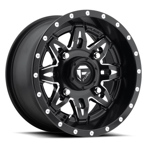 LETHAL NON-BEADLOCK - D567-Wheels-Fuel Wheels-Can-am-15x7-4+3-Black Market UTV