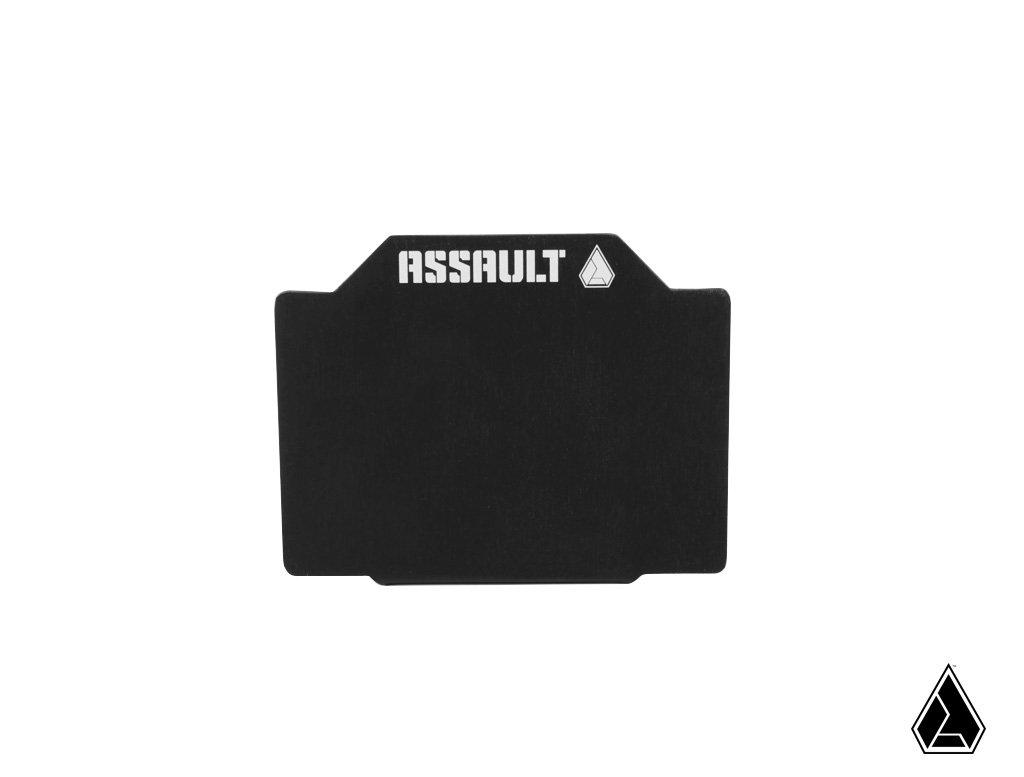 "Assault Ind. Registration Sticker Mount-Mounts-Assault Industries-3.8x3.06""-1.5""-Black Market UTV"