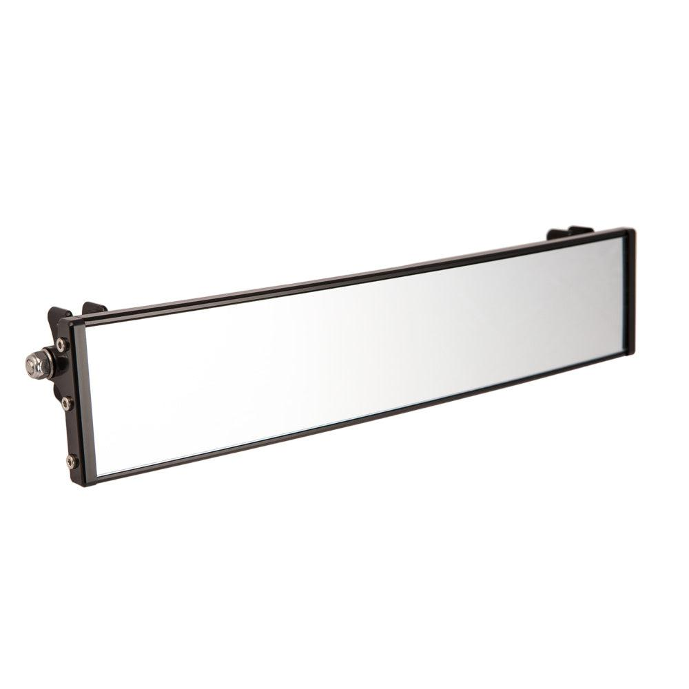 "12"" Panoramic Rearview Mirror w/ 0.5"" Arms-Mirrors-Axia Alloys-Satin (raw Aluminum)-0.75""-Black Market UTV"