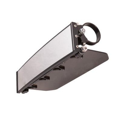 "12"" Panoramic Rearview Mirror w/Tinted Sun Visor-Mirrors-Axia Alloys-Satin (raw Aluminum)-0.75""-Black Market UTV"