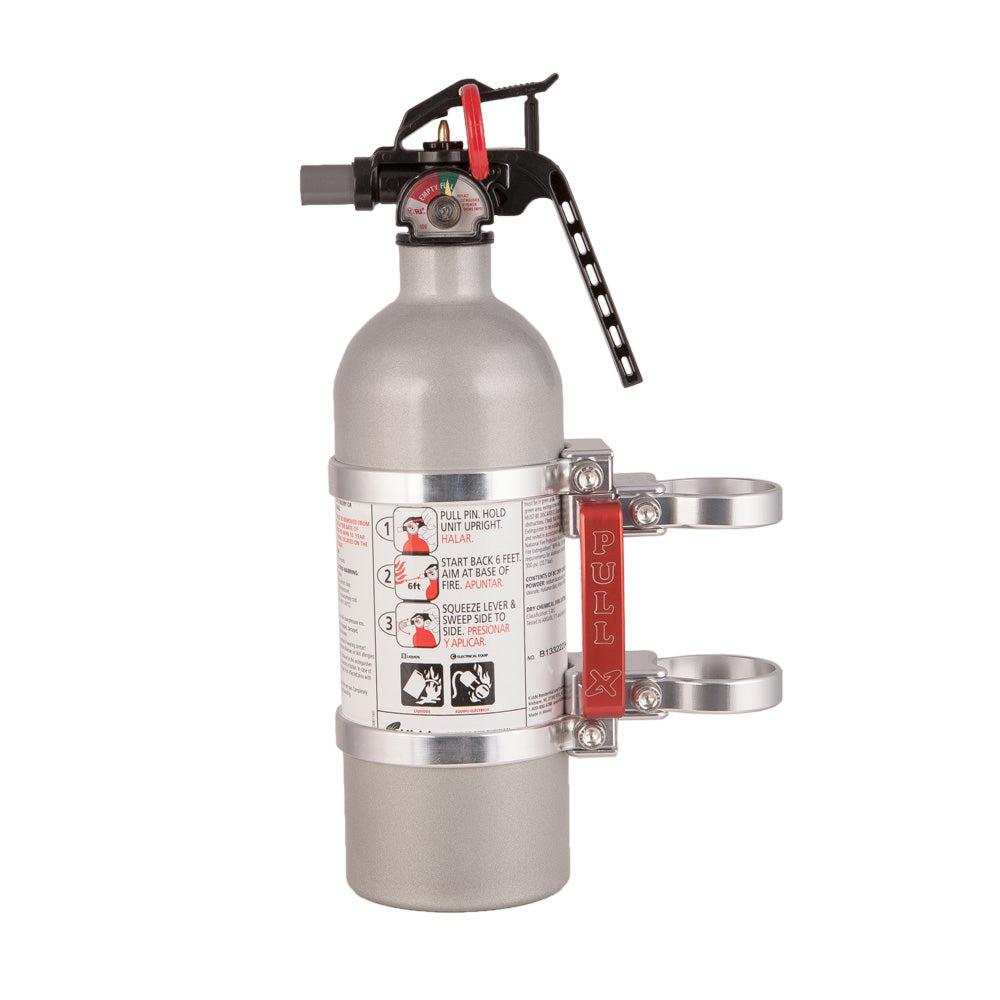 "Quick Release Fire Extinguisher Mount w/ 2lb Kidde Extingushier-Safety-Axia Alloys-Satin (raw Aluminum)-0.75""-Black Market UTV"