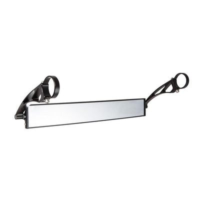 "17"" Wide Panoramic Rearview Mirror w/ 6"" Arms-Mirrors-Axia Alloys-Satin (raw Aluminum)-0.75""-Black Market UTV"