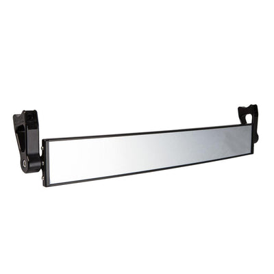 "17"" Wide Panoramic Rearview Mirror w/ 2.5"" Arms-Mirrors-Axia Alloys-Satin (raw Aluminum)-0.75""-Black Market UTV"