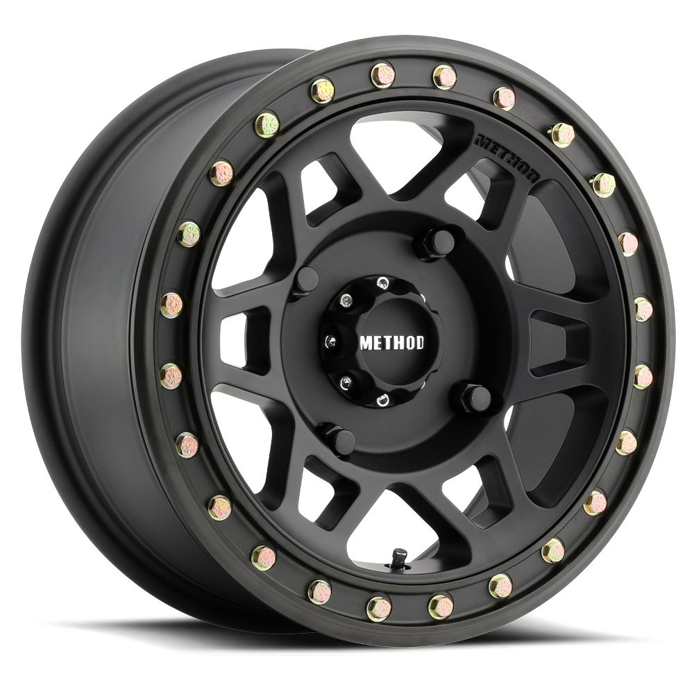 Method Race Wheels 405 Beadlock Matte Black-Wheels-Method-Can-am-15x7-4+3-Black Market UTV