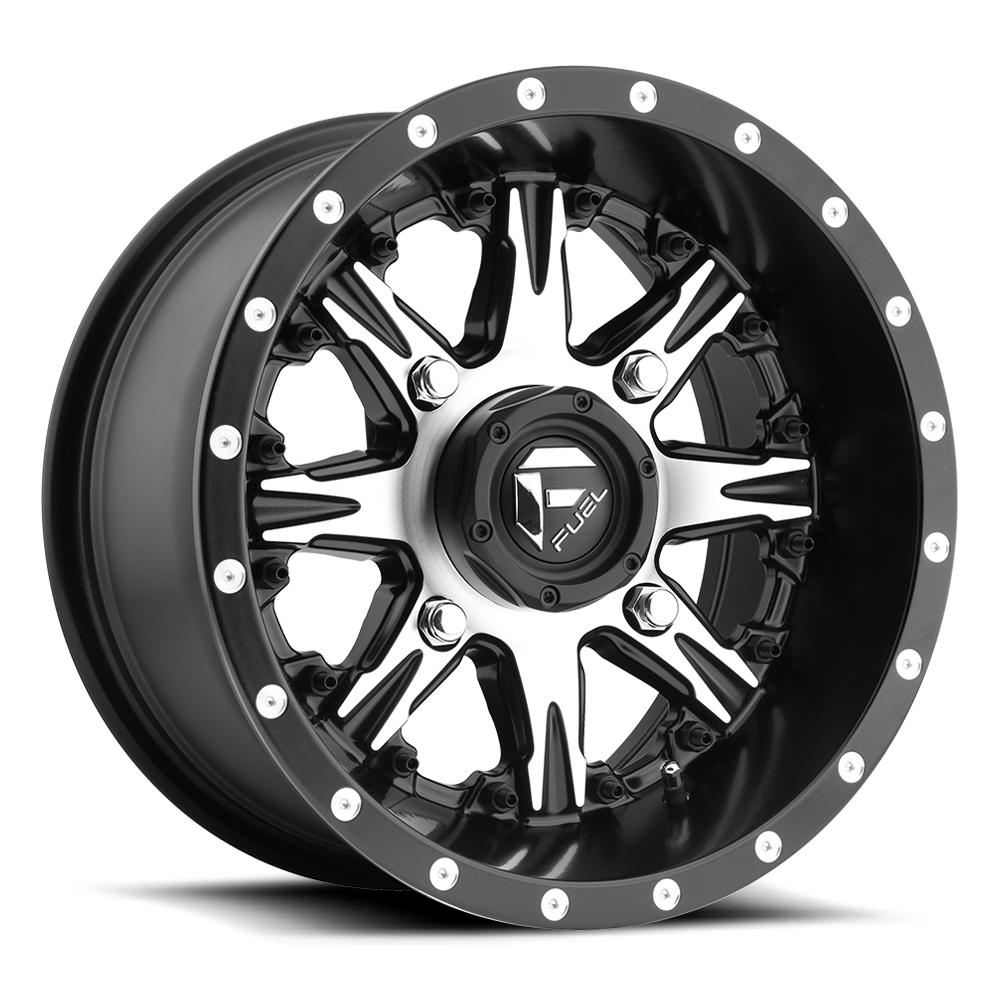 NUTZ NON-BEADLOCK - D541-Wheels-Fuel Wheels-Polaris-14x7-4+3-Black Market UTV