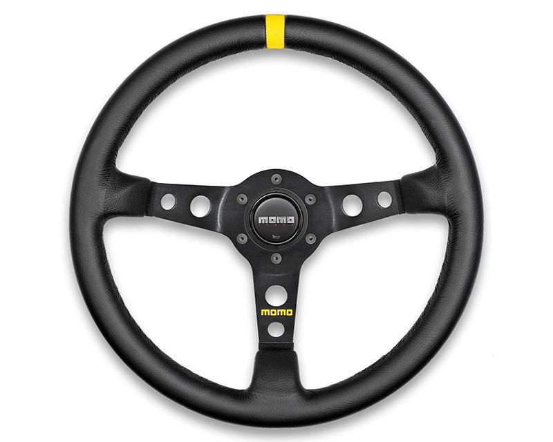 MOMO MOD.07 Steering Wheel-Steering Wheel-MOMO-Black Leather-Black Market UTV