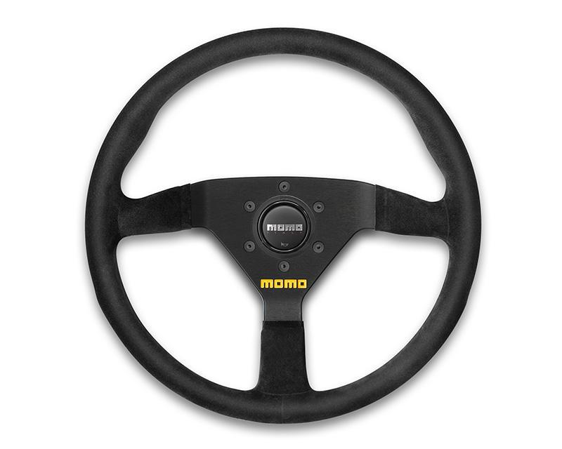 MOMO MOD.78 330mm Black Leather Steering Wheel-Steering Wheel-MOMO-Black Market UTV