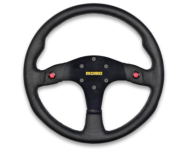 MOMO MOD.80 Black Leather Steering Wheel-Steering Wheel-MOMO-Black Market UTV