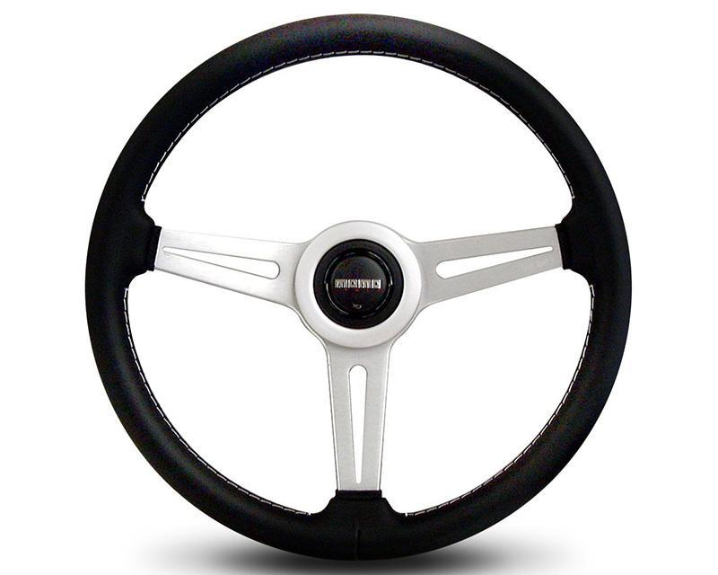 MOMO Retro Black Leather Steering Wheel-Steering Wheel-MOMO-Black Market UTV