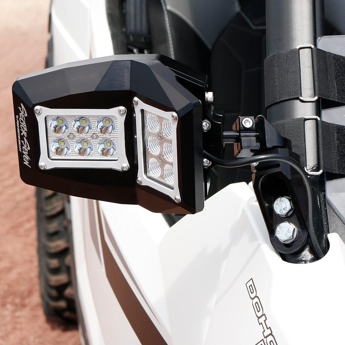 Spectrum with Bung Mount - Polaris RZR & Polaris General-Side Mirrors-Sector Seven-Black Market UTV