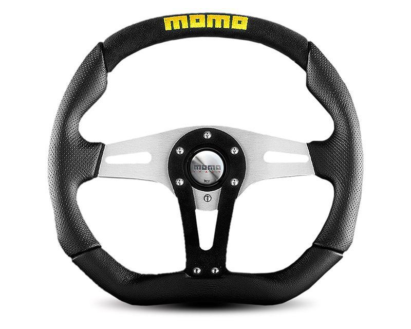 MOMO Trek Leather Steering Wheel-Steering Wheel-MOMO-Black-Black Market UTV