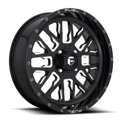 STROKE NON-BEADLOCK - D611-Wheels-Fuel Wheels-Can-am-18x7-4+3-Black Market UTV