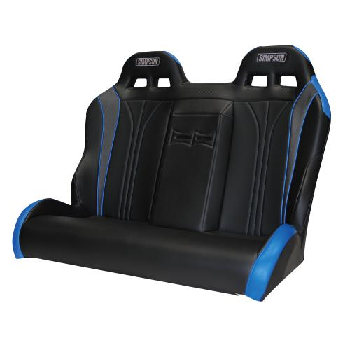 Simpson Rear Vortex Bench - Can-am X3 Maxx-Seats & Harness-Simpson-Black/Black-Black Market UTV