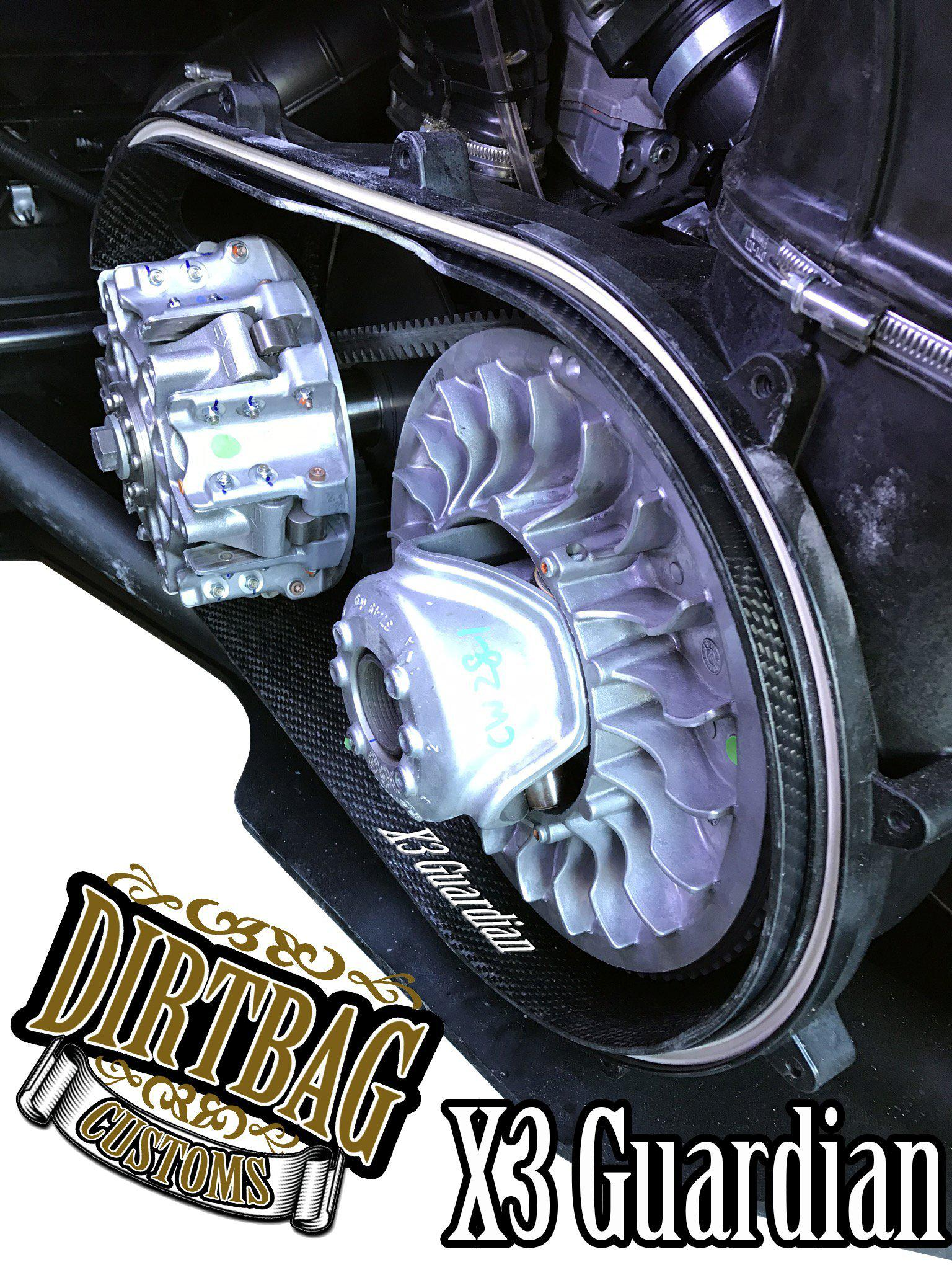 X3 Guardian Carbon Fiber Clutch Housing Liner-Clutching-Dirtbag Customs-Black Market UTV