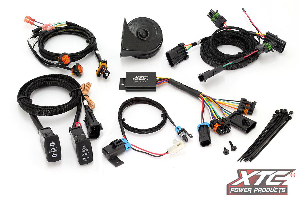 Can-Am Maverick X3 Self-Canceling Turn Signal System with Horn-Street Legal Kit-XTC-Black Market UTV