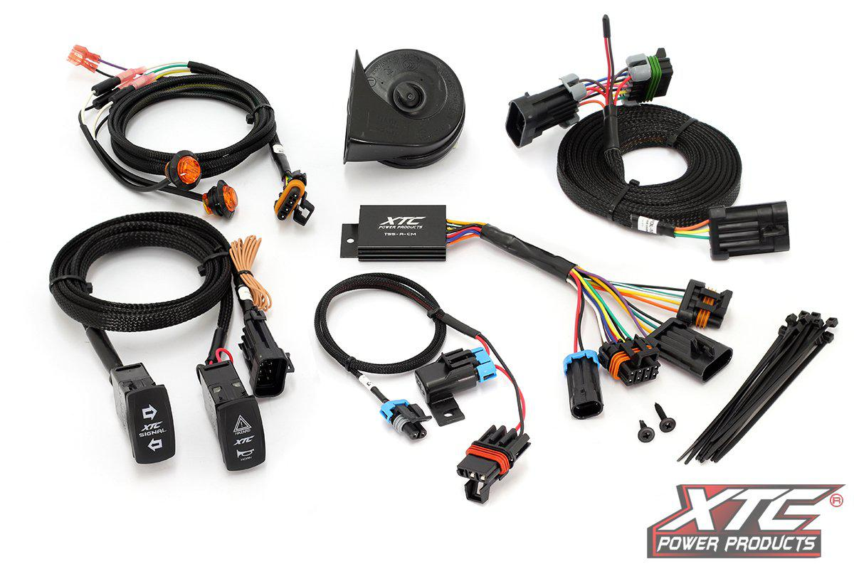 Polaris RZR PRO XP Self-Canceling Turn Signal System with Horn-Street Legal Kit-XTC-Black Market UTV