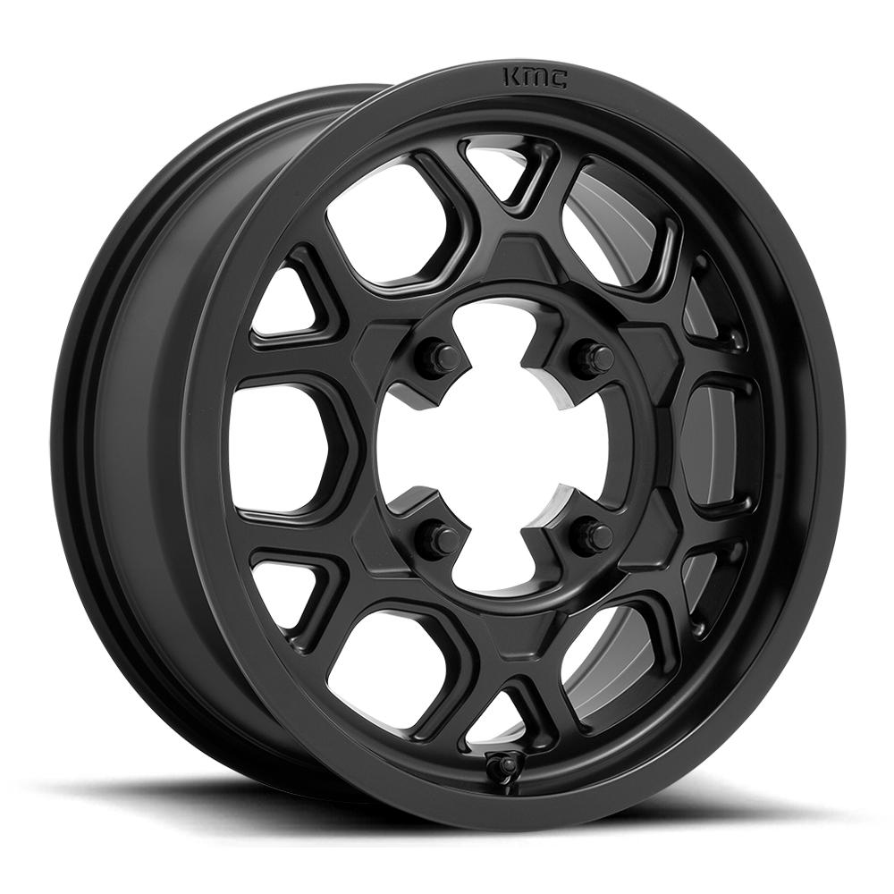 KMC Wheels - Mesa Lite-Wheels-KMC-SATIN BLACK-4X137-15X6 38MM-Black Market UTV
