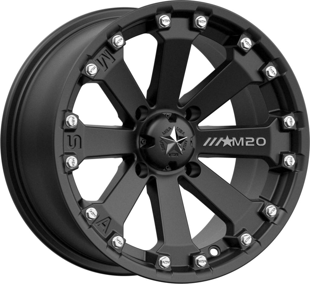 M20 KORE-Wheels-MSA-Can-am-14x7-4+3-Black Market UTV