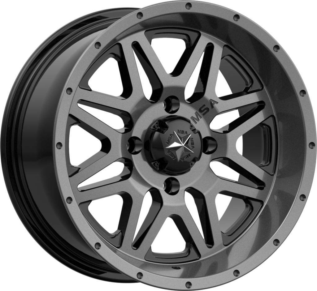 M26 VIBE - Dark Tint-Wheels-MSA-Can-am-14x7-4+3-Black Market UTV