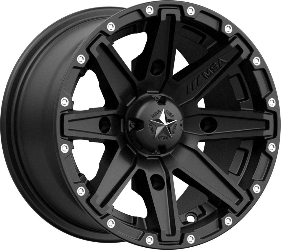 M33 Clutch-Wheels-MSA-Can-am-12x7-4+3-Black Market UTV