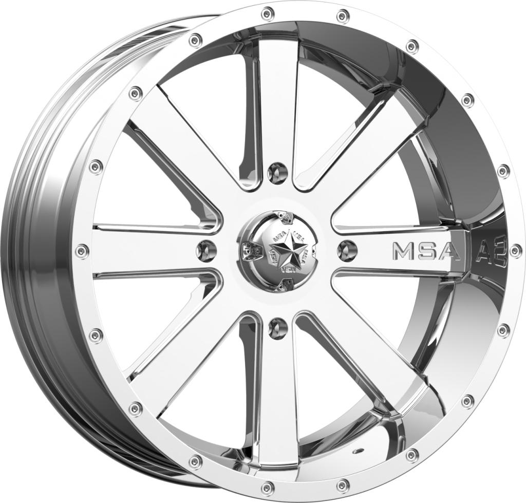 M34 Flash - Chrome-Wheels-MSA-Can-am-18x7-4+3-Black Market UTV