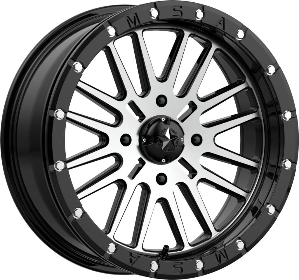 M37 Brute Beadlock-Wheels-MSA-Can-am-14x7-4+3-Black Market UTV