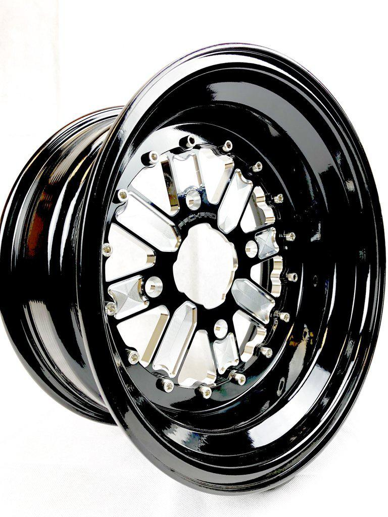 OG - GLOSS BLACK-Wheels-Packard Performance-15x7-4x137-Black Market UTV