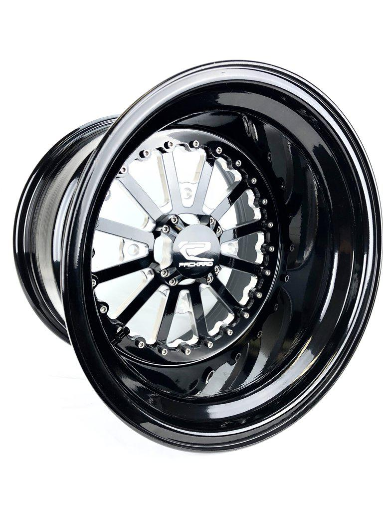 NOVA - GLOSS BLACK by Ultra Light-Wheels-Packard Performance-15x7-4x137-Black Market UTV