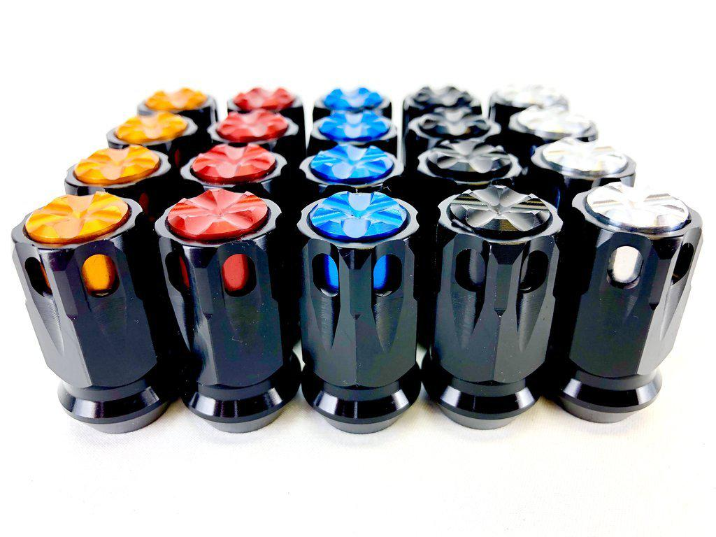 BILLET LUG NUTS BY ULTRA LIGHT-Lug Nuts-Packard Performance-Can-Am/Polaris/Arctic Cat/Honda/Textron-Black-Black-Black Market UTV