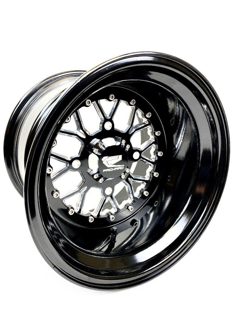 WISHBONE - GLOSS BLACK-Wheels-Packard Performance-15x7-4x137-Black Market UTV