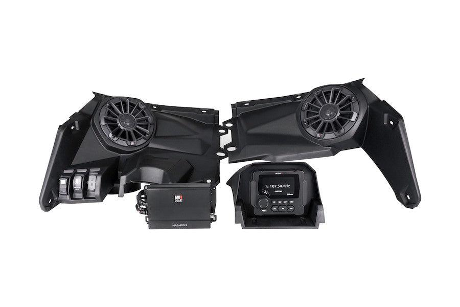 MB Quart - Can Am X3 Stage 2 Tuned Audio Package-Stereo-MB Quart-Black Market UTV