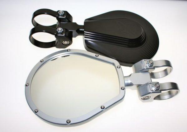 "6"" Flat Folding Side Mirror-Mirrors-Axia Alloys-Satin (raw Aluminum)-0.75""-Black Market UTV"