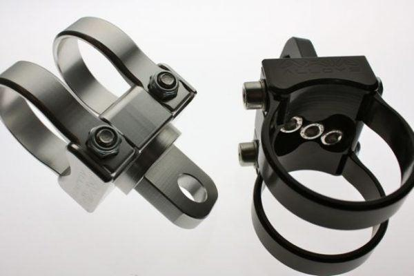 "Adjustable Angle Whip Mount-Mounts-Axia Alloys-Satin (raw Aluminum)-0.75""-Black Market UTV"