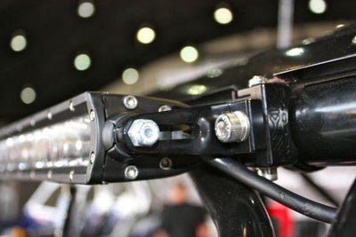 "LED Light Bar Mounts for 6mm / 1/4"" End Mounts-Mounts-Axia Alloys-Satin (raw Aluminum)-0.75""-Black Market UTV"