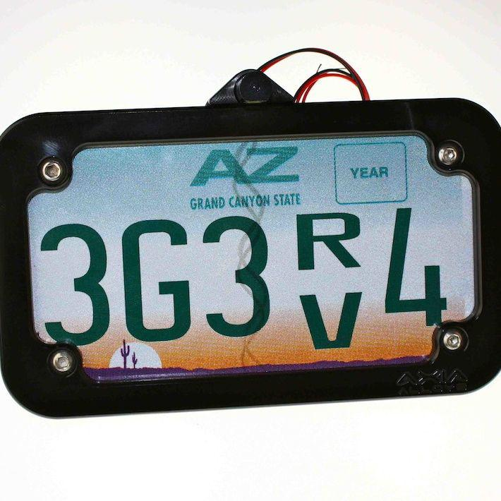 "Tube Mounted LED License Plate Frame-Registration Mount-Axia Alloys-Satin (raw Aluminum)-0.75""-Black Market UTV"