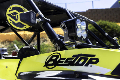 Polaris RZR XP1000 A-Pillar Kit No Lights Baja Designs-Lighting Mounts-Baja Designs-Black Market UTV