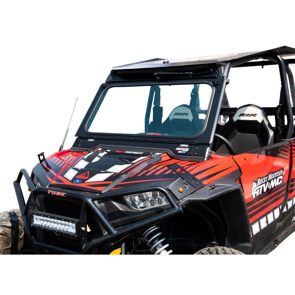 Tusk UTV Folding Glass Windshield-Windshield-Tusk-Without Windshield Wiper-Black Market UTV