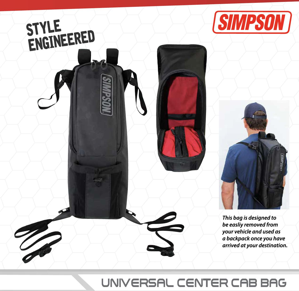 Simpson Universal Center Cab Bag-Seats & Harness-Simpson-Black Market UTV