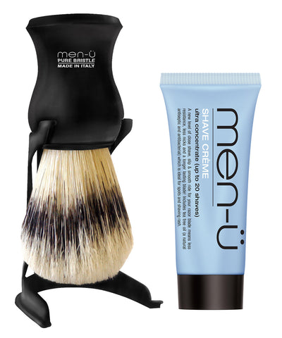 Men-u Barbiere Shaving Brush and Stand Black