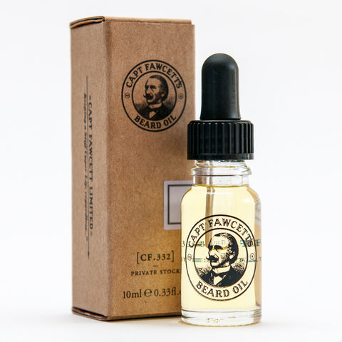 Captain Fawcett Private Stock Beard Oil - Travel Size