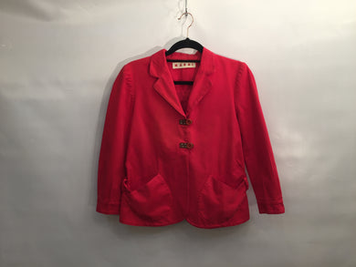 Casual red MARNI jacket - size UK 8-10/IT 42