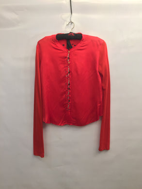 Gorgeous red silky shirt by Marithé & François GIRBAUD - size L