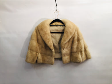Gorgeous 1960s honey mink cropped fur jacket - size S/M