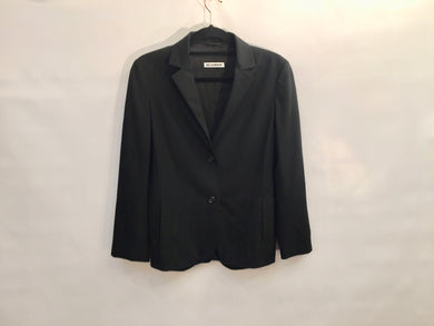 Chic JIL SANDER black wool-blend jacket - size UK 10